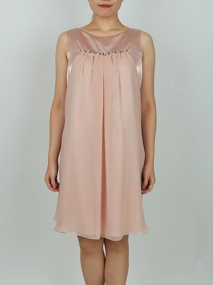She's のベビーピンク色ドレープドレス