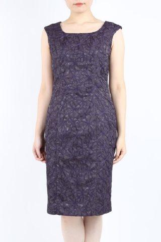 PREFERENCE PARTY'Sのパープルの上品ラメ刺繍ドレス