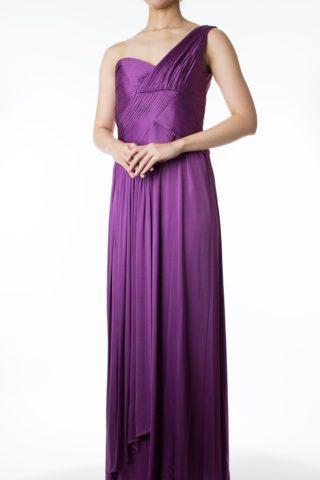TADASHI SHOJIのパープルマキシ丈ドレス