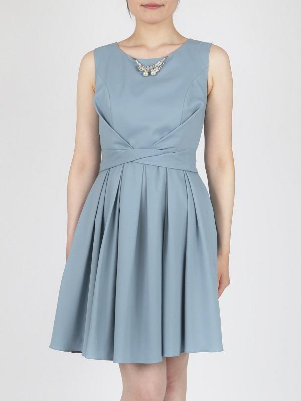 DorryDollのネックレス付き2WAYドレス(グレイッシュブルー)