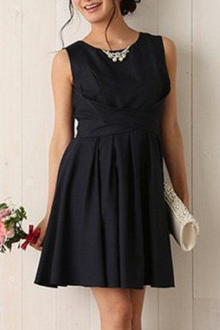 DorryDollのネックレス付き2WAYドレス(ネイビー)