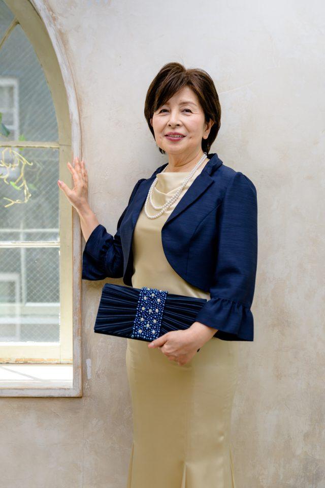 sumiko nakaのシャンパンベージュドレス