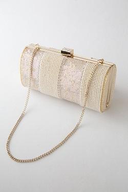 Genet Vivienのゴールドパールのミニバッグ