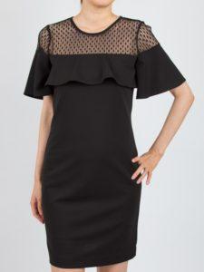 4c3dc593292f6 デコルテ周りのシースルーとタイトなシルエットで、クールに着こなすことができるデザインのドレスです。レッドやグリーンのバッグを合わせるのもオシャレですよ。