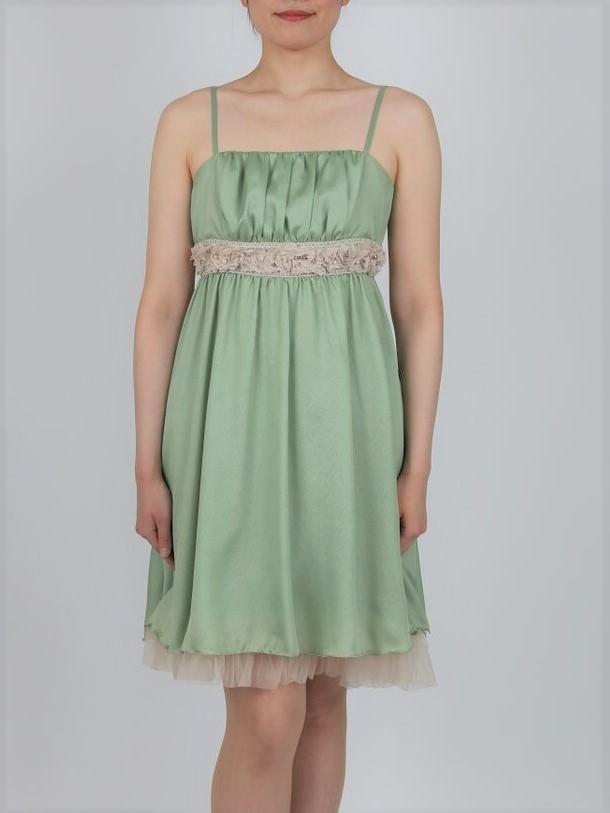 PREFERENCE PARTY'Sのライトグリーンプリンセスドレス