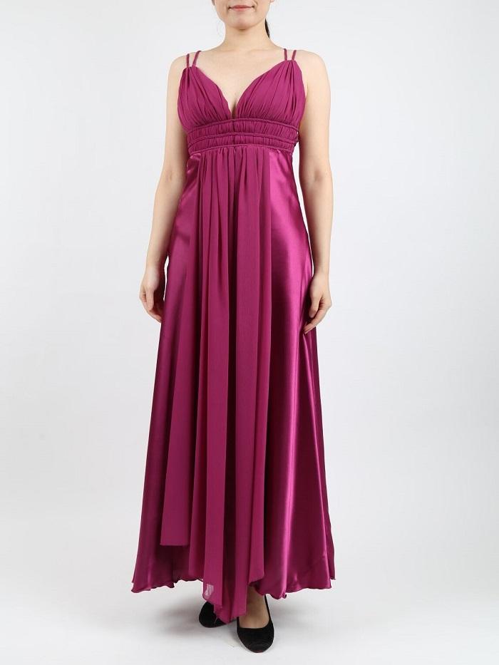 Rene Derhy(ルネデリ)のパープルマキシ丈ドレス