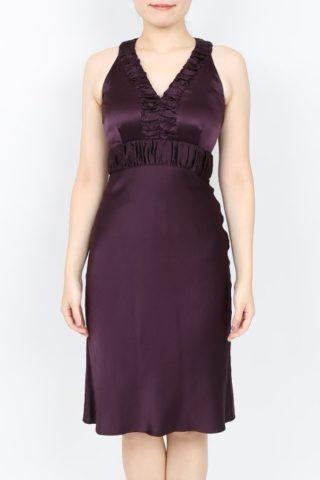 EPOCA(エポカ)のパープルシルクのタイトラインドレス