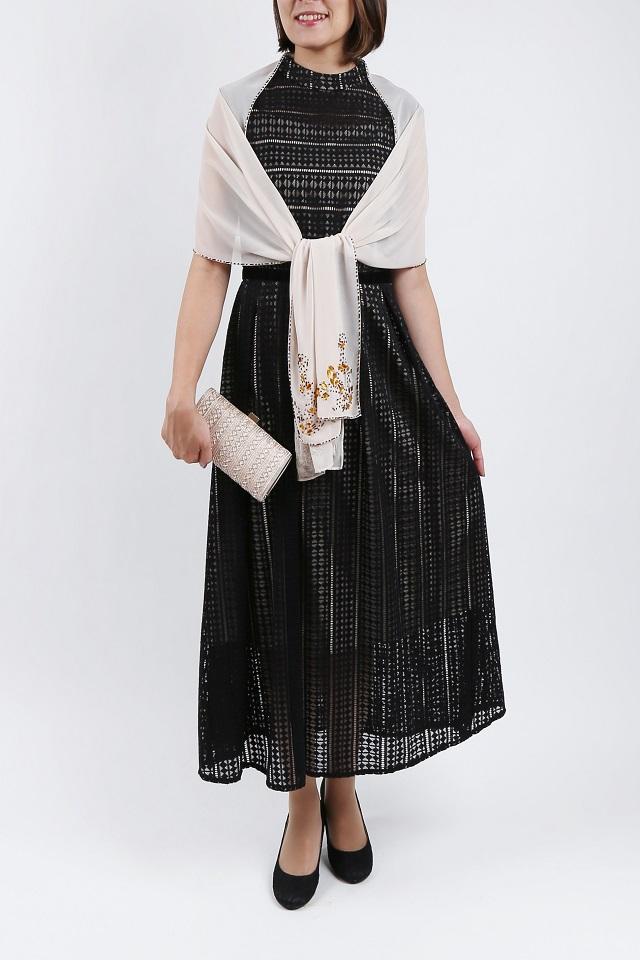 スクエア ダイヤモンド幾何学模様ドレス